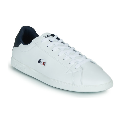 Shoes Men Low top trainers Lacoste GRADUATE TRI1 SMA White / Marine / Red