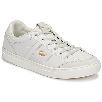 Shoes Women Low top trainers Lacoste COURTLINE 120 1 US CFA White / Gold