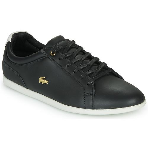 Shoes Women Low top trainers Lacoste REY LACE 120 1 CFA Black / White