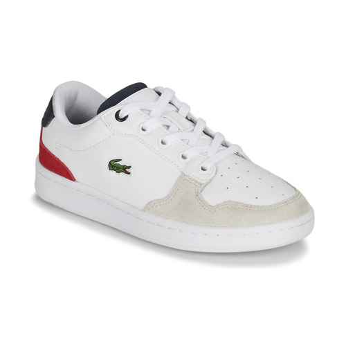 Shoes Children Low top trainers Lacoste MASTERS CUP 120 2 SUC White / Blue / Red