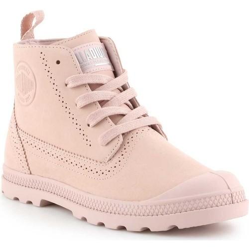 Shoes Women Mid boots Palladium Manufacture Pampa LDN LP 96468-612-M pink