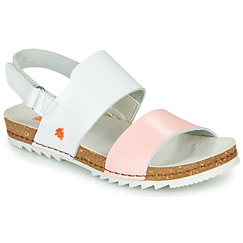 Shoes Women Sandals Art CRETA White / Pink