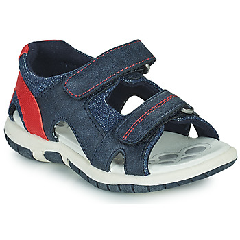 Shoes Boy Sandals Chicco FLORIAN Marine / Red