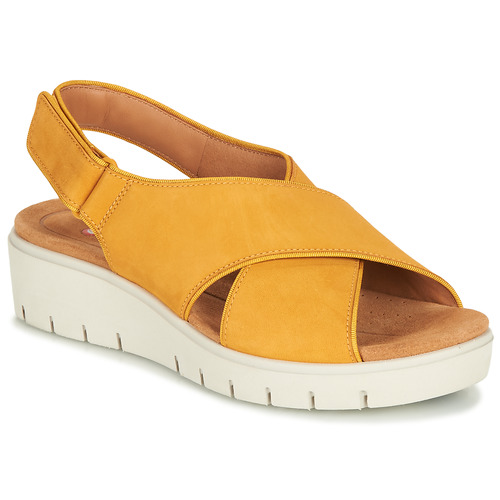 Shoes Women Sandals Clarks UN KARELY SUN Mustard