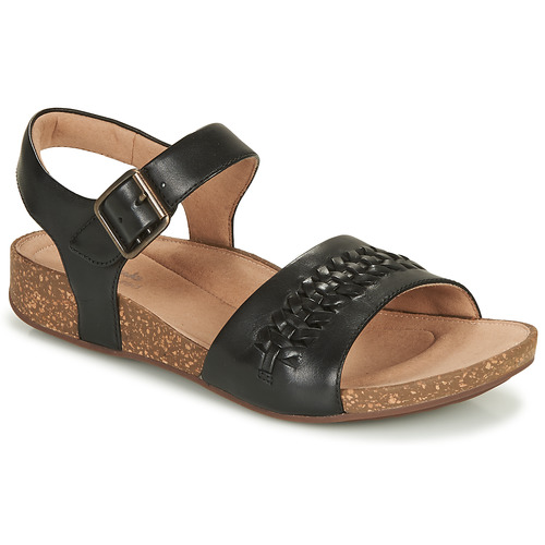 Shoes Women Sandals Clarks Un Perri Way  black