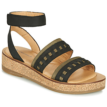 Shoes Women Sandals El Naturalista TÜLBEND Black / Kaki