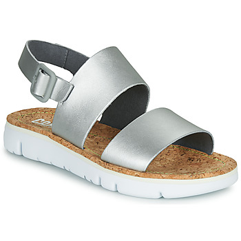 Shoes Women Sandals Camper Oruga Sandal Silver