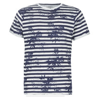 Clothing Men short-sleeved t-shirts Casual Attitude NELLYA Marine / Ecru