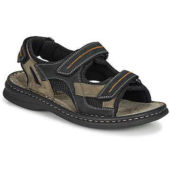 Shoes Men Outdoor sandals Josef Seibel MAX 64 Brown / Black