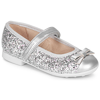 Shoes Girl Flat shoes Geox JR PLIE' Silver