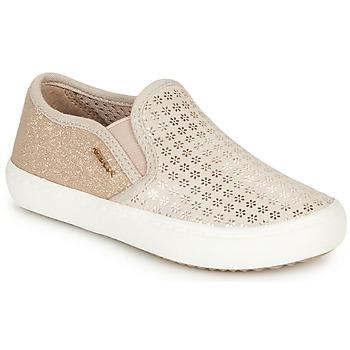 Shoes Girl Slip-ons Geox J KILWI GIRL Beige