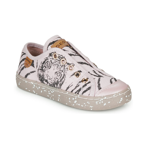 Shoes Girl Low top trainers Geox J KILWI GIRL Pink / Black