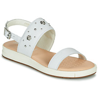 Shoes Children Sandals Geox J SANDAL REBECCA GIR White