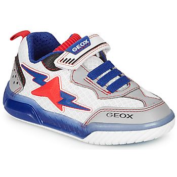 Shoes Boy Low top trainers Geox J INEK BOY White / Blue / Red