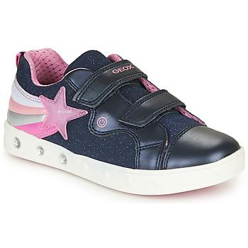 Shoes Girl Low top trainers Geox J SKYLIN GIRL Marine / Pink