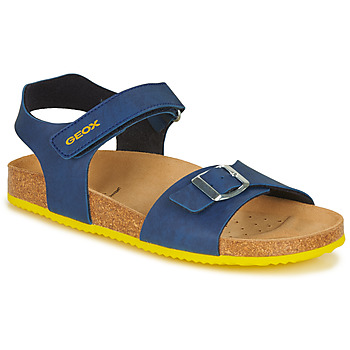 Shoes Boy Sandals Geox GHITA BOY Blue / Yellow