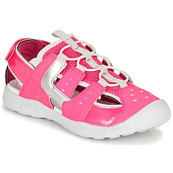 Shoes Girl Outdoor sandals Geox J VANIETT GIRL Pink / Silver