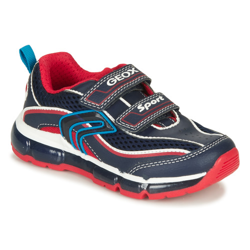Shoes Boy Low top trainers Geox ANDROID BOY Marine / Red / White