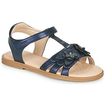 Shoes Girl Sandals Geox J SANDAL KARLY GIRL Marine