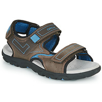 Shoes Boy Outdoor sandals Geox JR SANDAL STRADA Brown / Blue