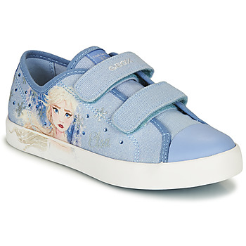 Shoes Girl Low top trainers Geox JR CIAK GIRL Blue