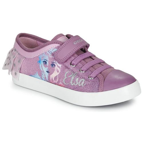 Shoes Girl Low top trainers Geox JR CIAK GIRL Purple