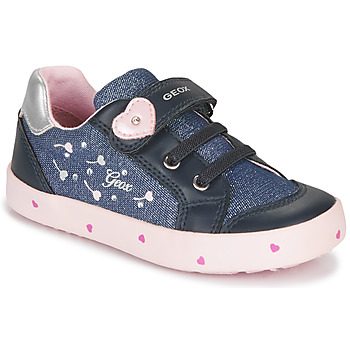Shoes Girl Low top trainers Geox B KILWI GIRL Blue / Pink