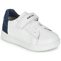 Shoes Boy Low top trainers Geox B DJROCK BOY White / Blue