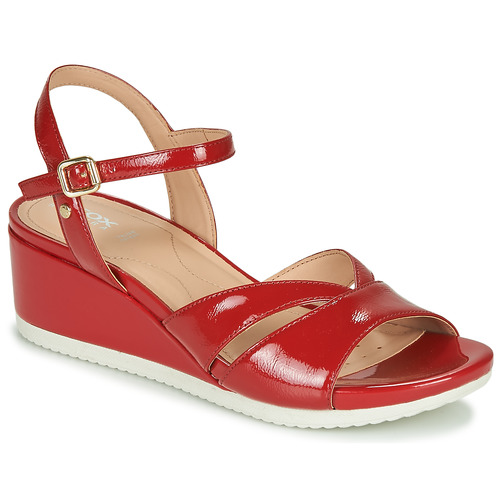Shoes Women Low top trainers Geox D ISCHIA Red