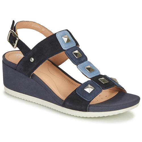 Shoes Women Sandals Geox D ISCHIA Blue