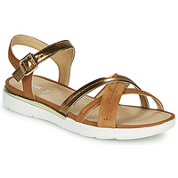 Shoes Women Sandals Geox D SANDAL HIVER Gold / Brown