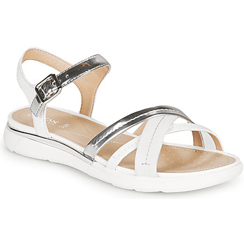 Shoes Women Sandals Geox D SANDAL HIVER Silver / White