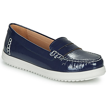 Shoes Women Loafers Geox D GENOVA MOC Blue / White
