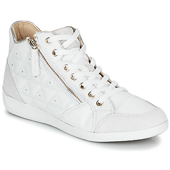 Shoes Women Hi top trainers Geox D MYRIA White