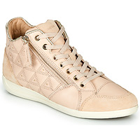 Shoes Women Hi top trainers Geox D MYRIA Beige