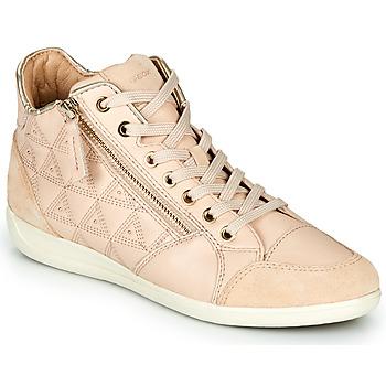 Shoes Women Hi top trainers Geox D MYRIA Beige