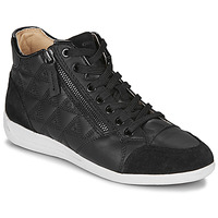 Shoes Women Hi top trainers Geox D MYRIA Black