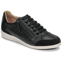 Shoes Women Low top trainers Geox D MYRIA Black