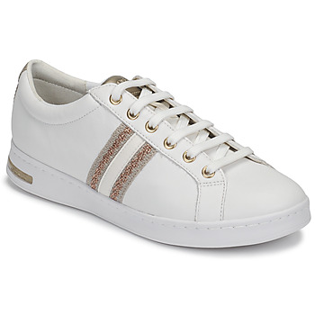 Shoes Women Low top trainers Geox D JAYSEN White / Gold