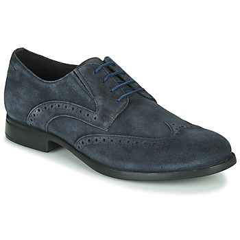 Shoes Men Derby Shoes Geox U DOMENICO Marine