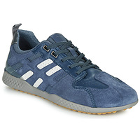 Shoes Men Low top trainers Geox U SNAKE.2 Blue / White / Grey