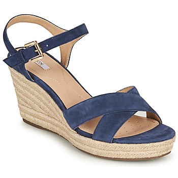 Shoes Women Sandals Geox D SOLEIL Blue