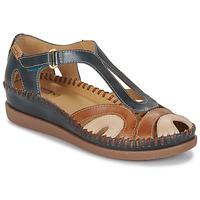 Shoes Women Sandals Pikolinos CADAQUES W8K Blue / Camel