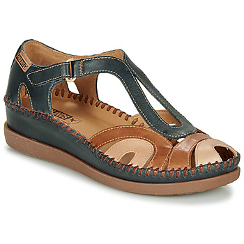 Shoes Women Sandals Pikolinos CADAQUES W8K Blue / Camel