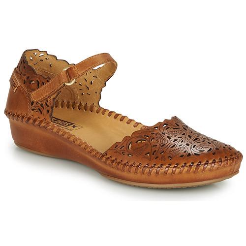 Shoes Women Flat shoes Pikolinos P. VALLARTA 655 Cognac