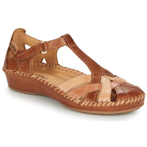 Shoes Women Flat shoes Pikolinos P. VALLARTA 655 Cognac / Camel