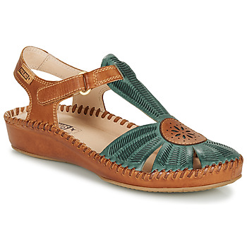 Shoes Women Sandals Pikolinos P. VALLARTA 655 Camel / Green
