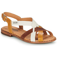 Shoes Women Sandals Pikolinos ALGAR W0X Cognac / White / Yellow