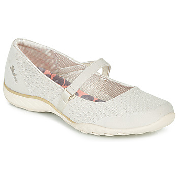 Shoes Women Flat shoes Skechers BREATHE-EASY Beige