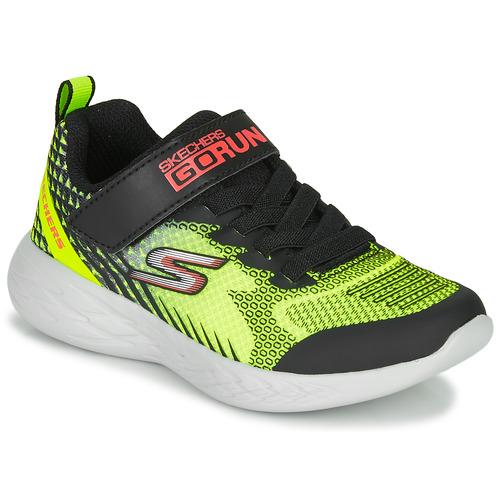 Shoes Boy Multisport shoes Skechers GO RUN 600 BAXTUX Black / Yellow